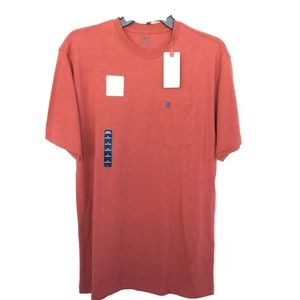 Mens T-Shirt S Short Sleeve Coral Cotton Blend